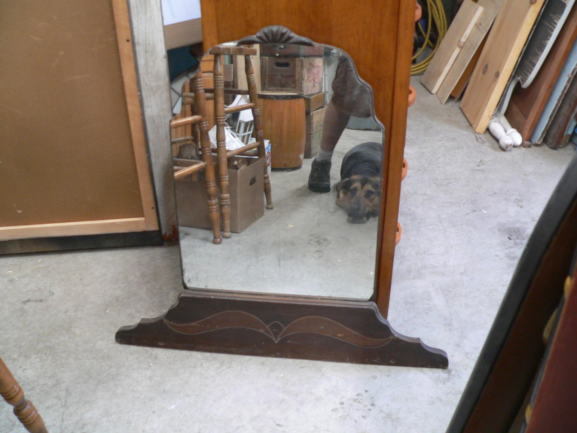 Miroir antique de meuble # 1702