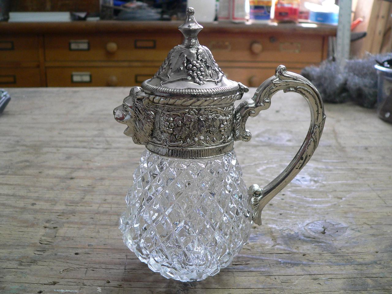 Laitier en crystal et argent # 2800