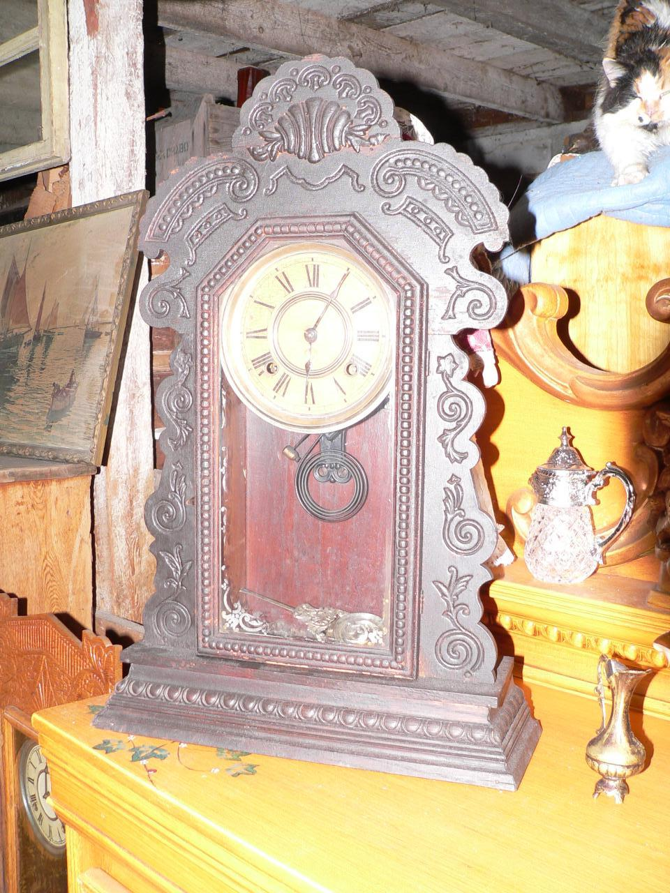 Horloge antique pain d'épice # 3051