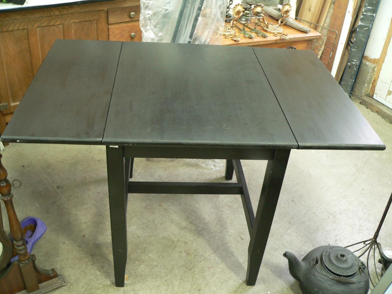 Petite table en pin a rabat #3310