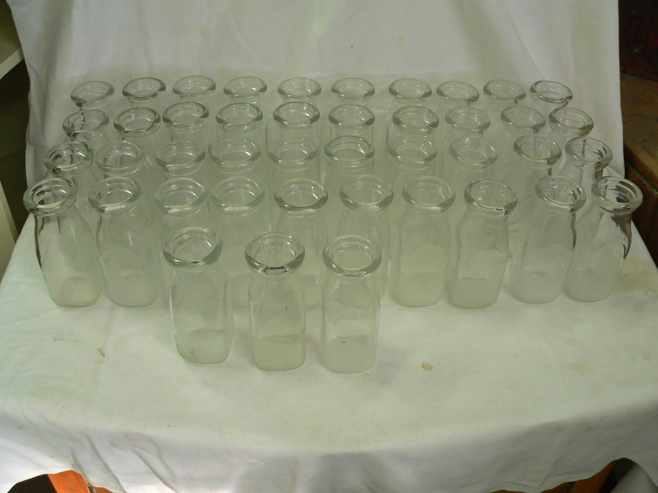 43 bouteille antique de lait # 3584
