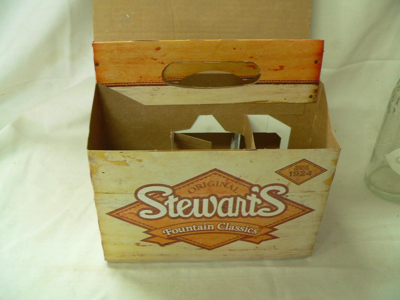 6 pack vide en carton stewart's # 4037.1