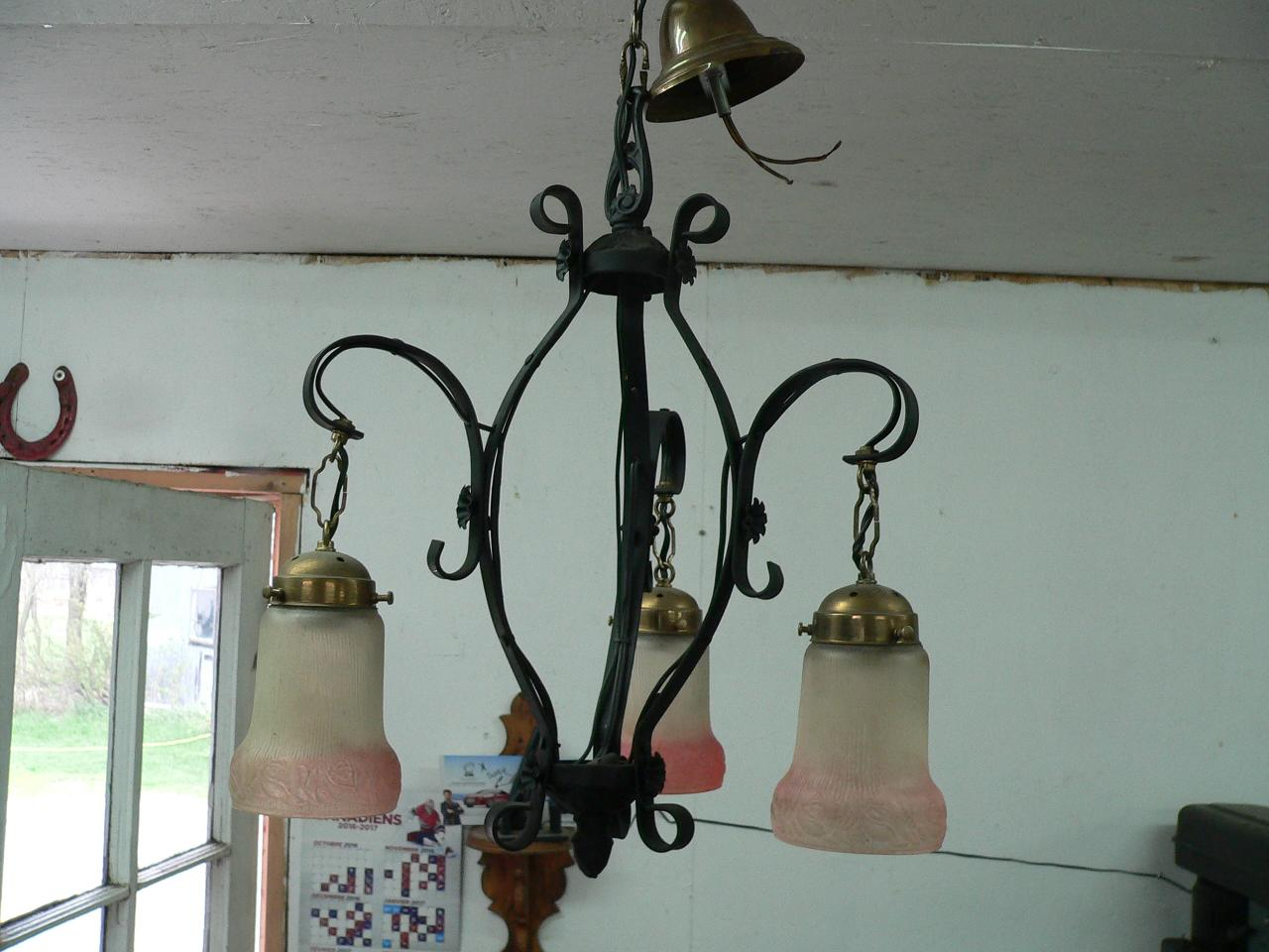 Lampe suspendu antique # 4081