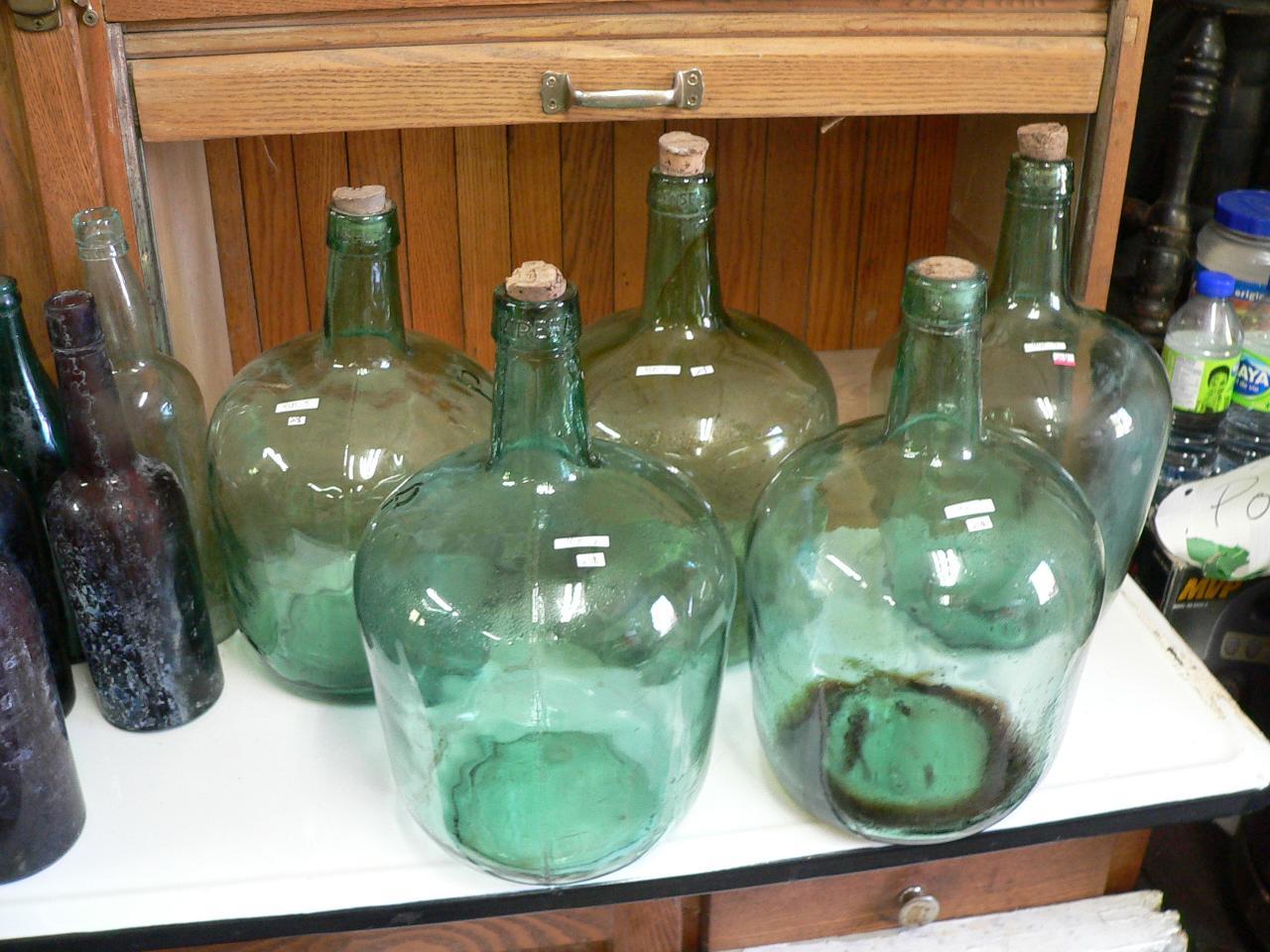 6 belle cruche en verre # 4135