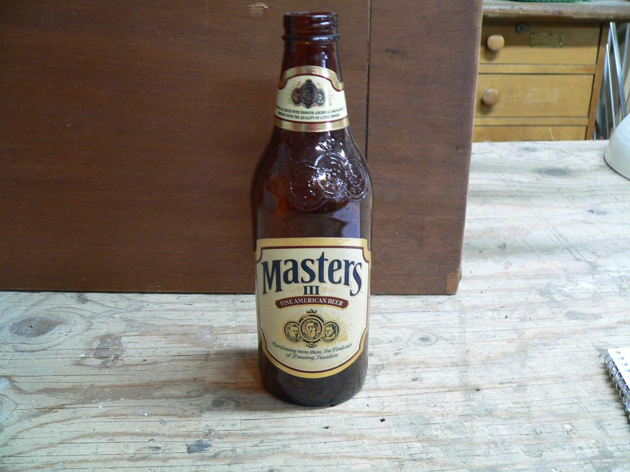 Bouteille master 111 fine american beer # 4556.16