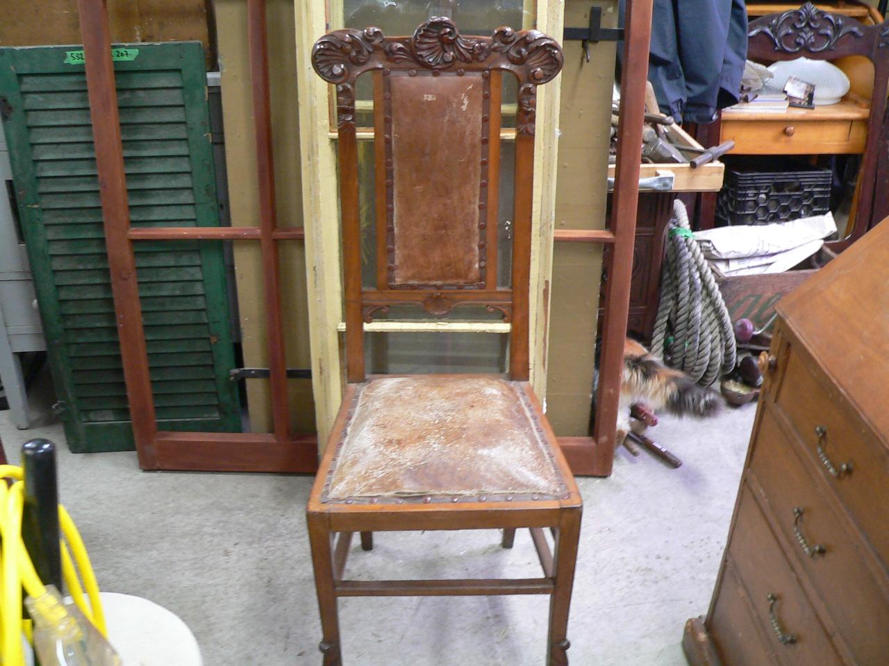 Tres belle chaise antique # 4685