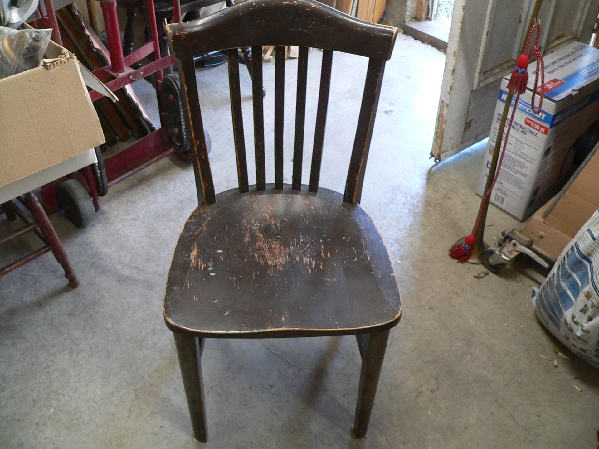 Chaise antique en chêne # 5253