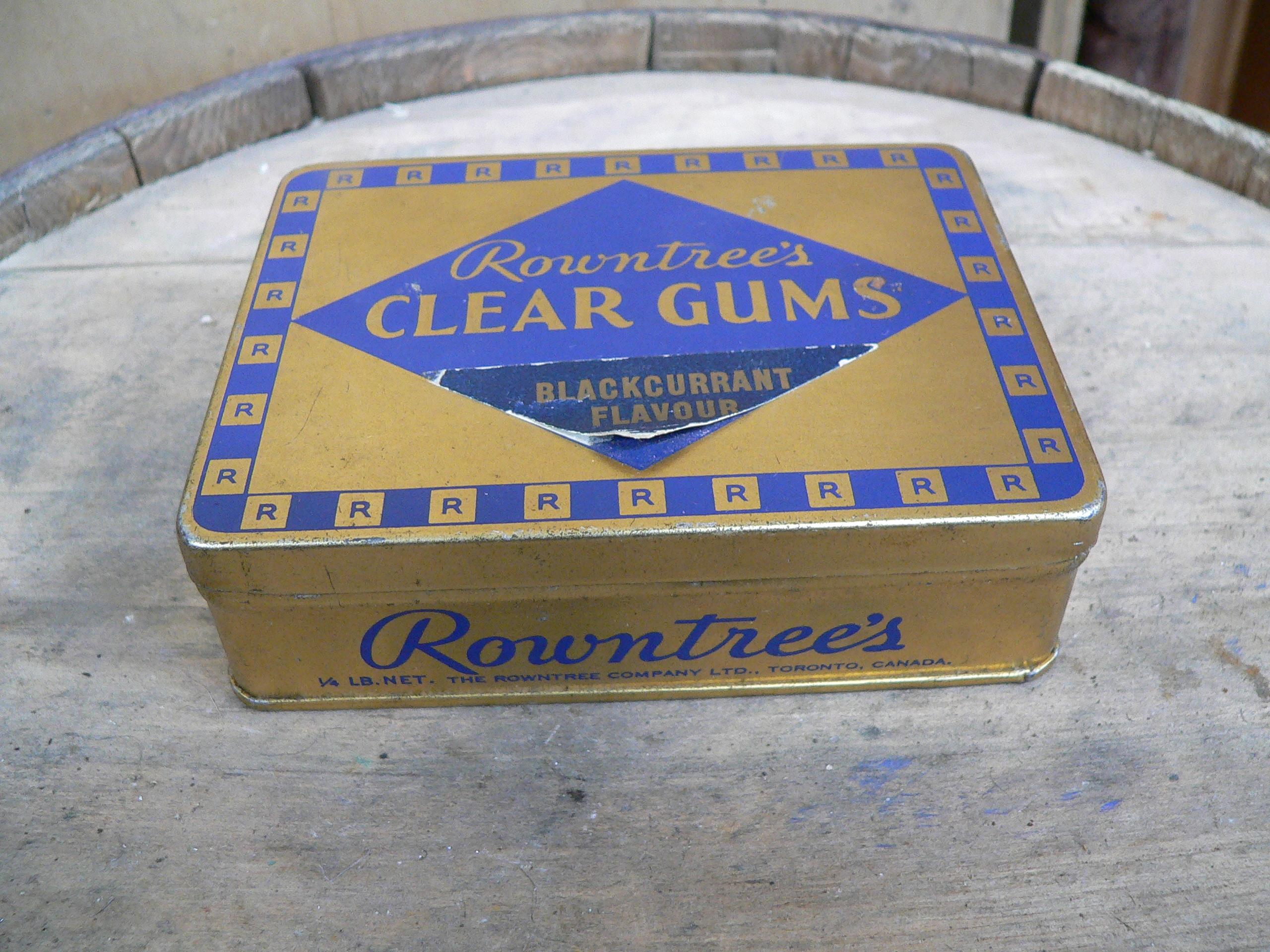 Boite de tôle rountree's clear gums # 5445.11
