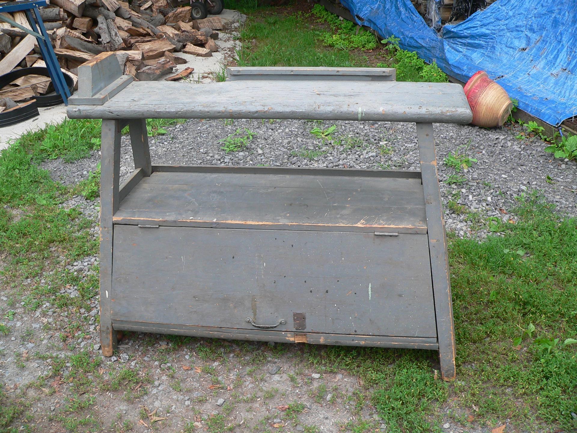 Table antique de travail # 5460