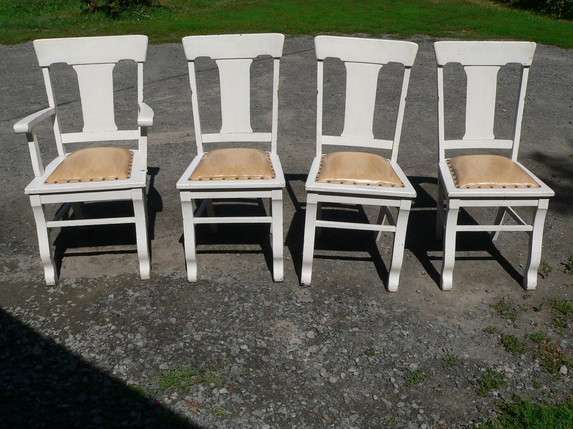 4 belle chaise antique # 5559