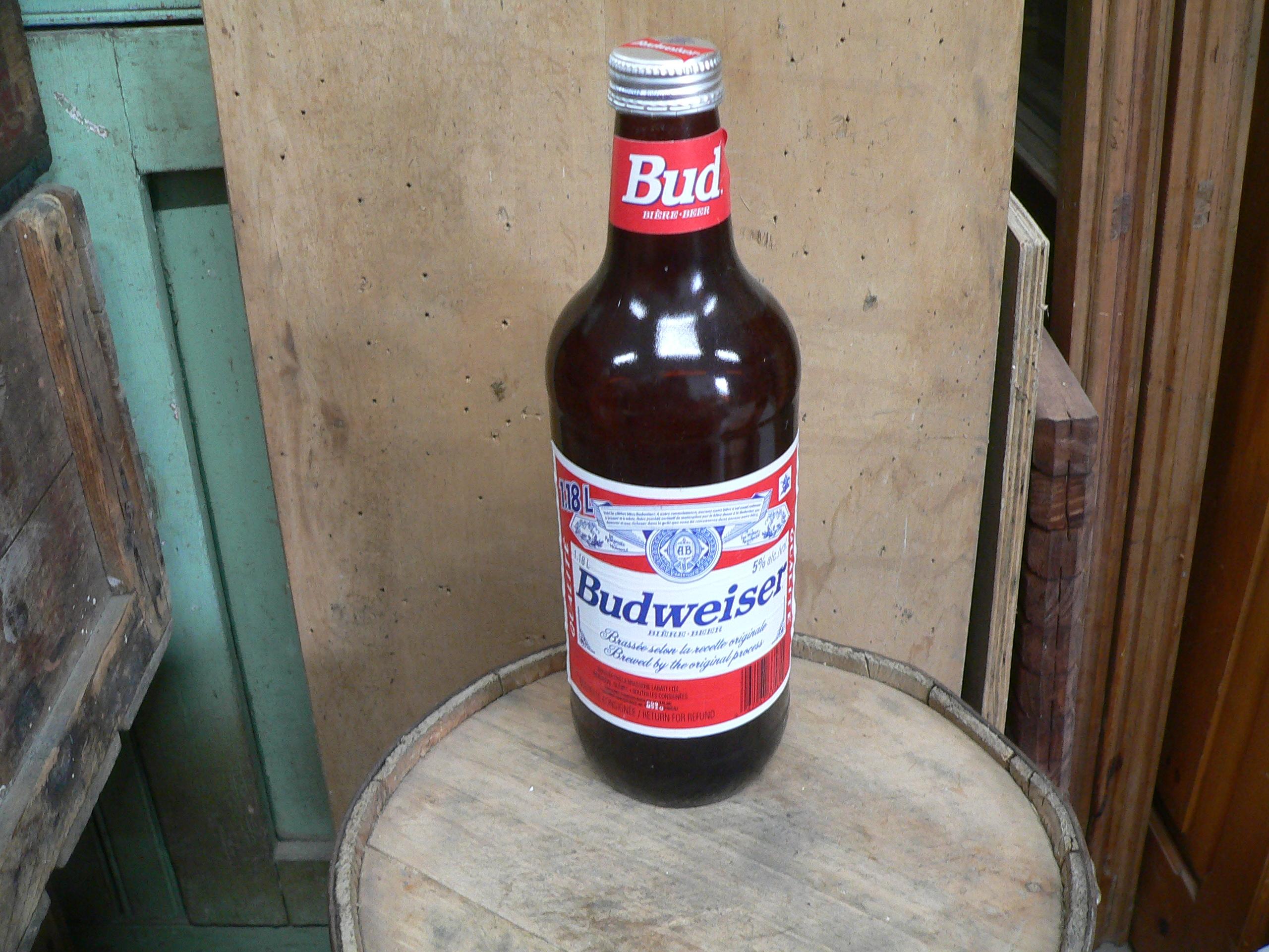 Grosse bouteille budweiser # 5602.1