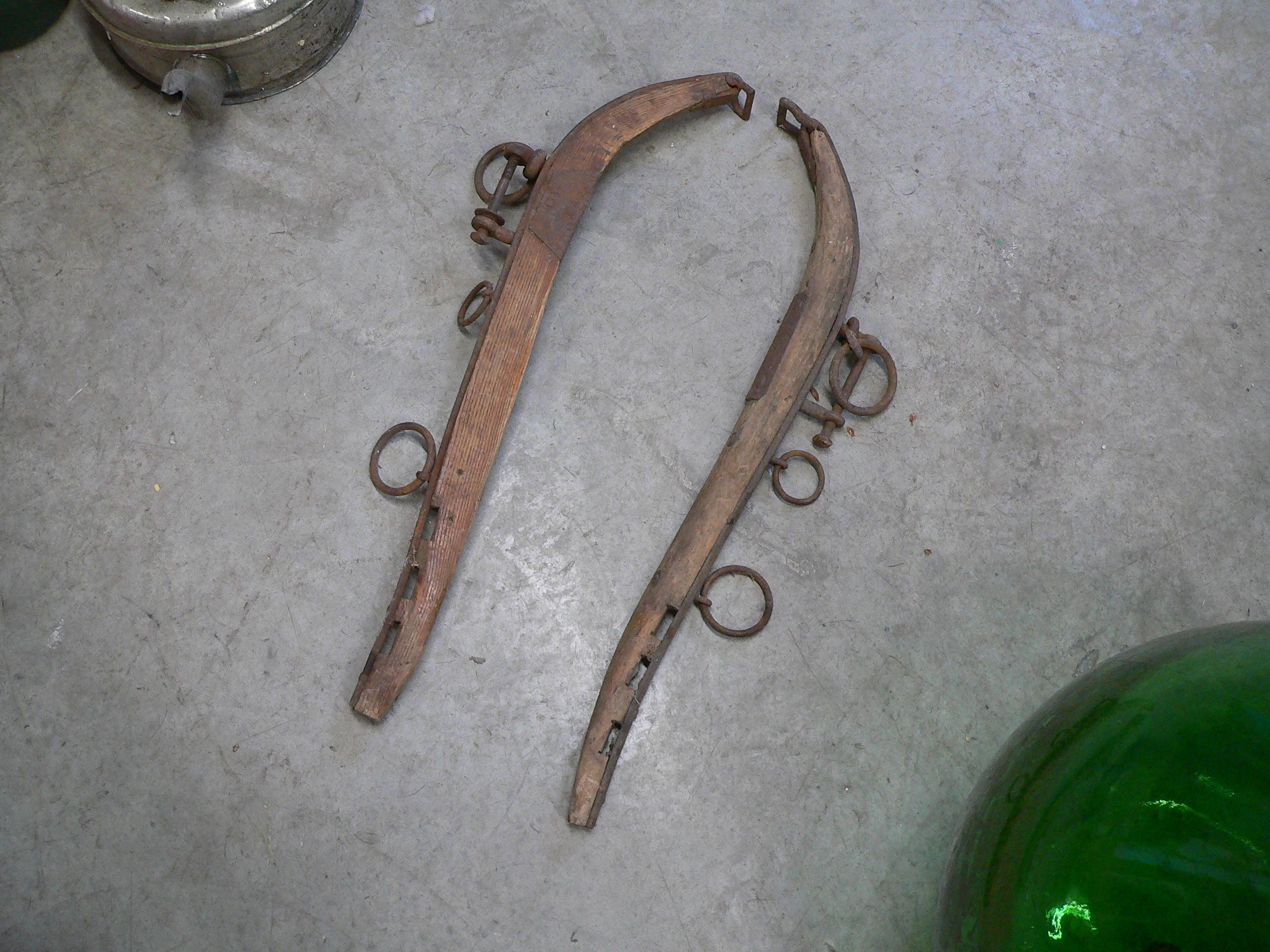 Paire de collier a cheval antique # 5604.22