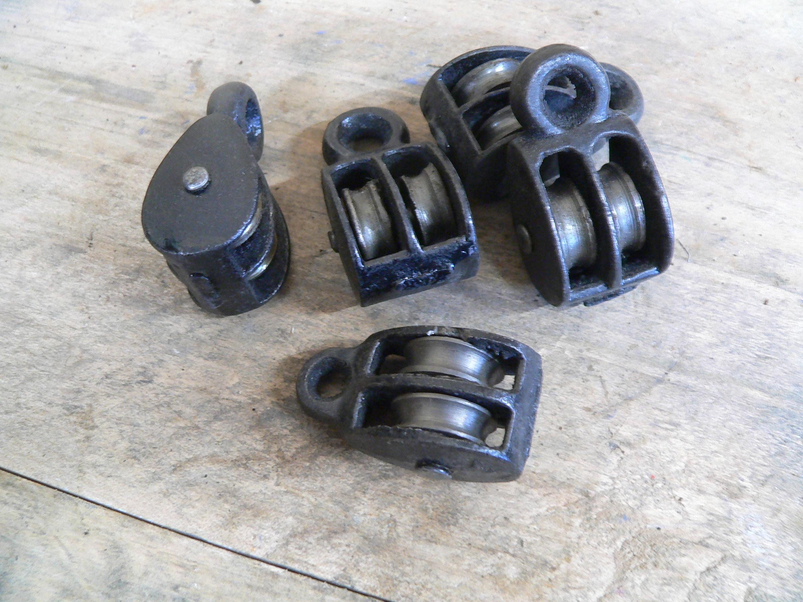 12 petite poulie double 3/4 roue métal # 5620