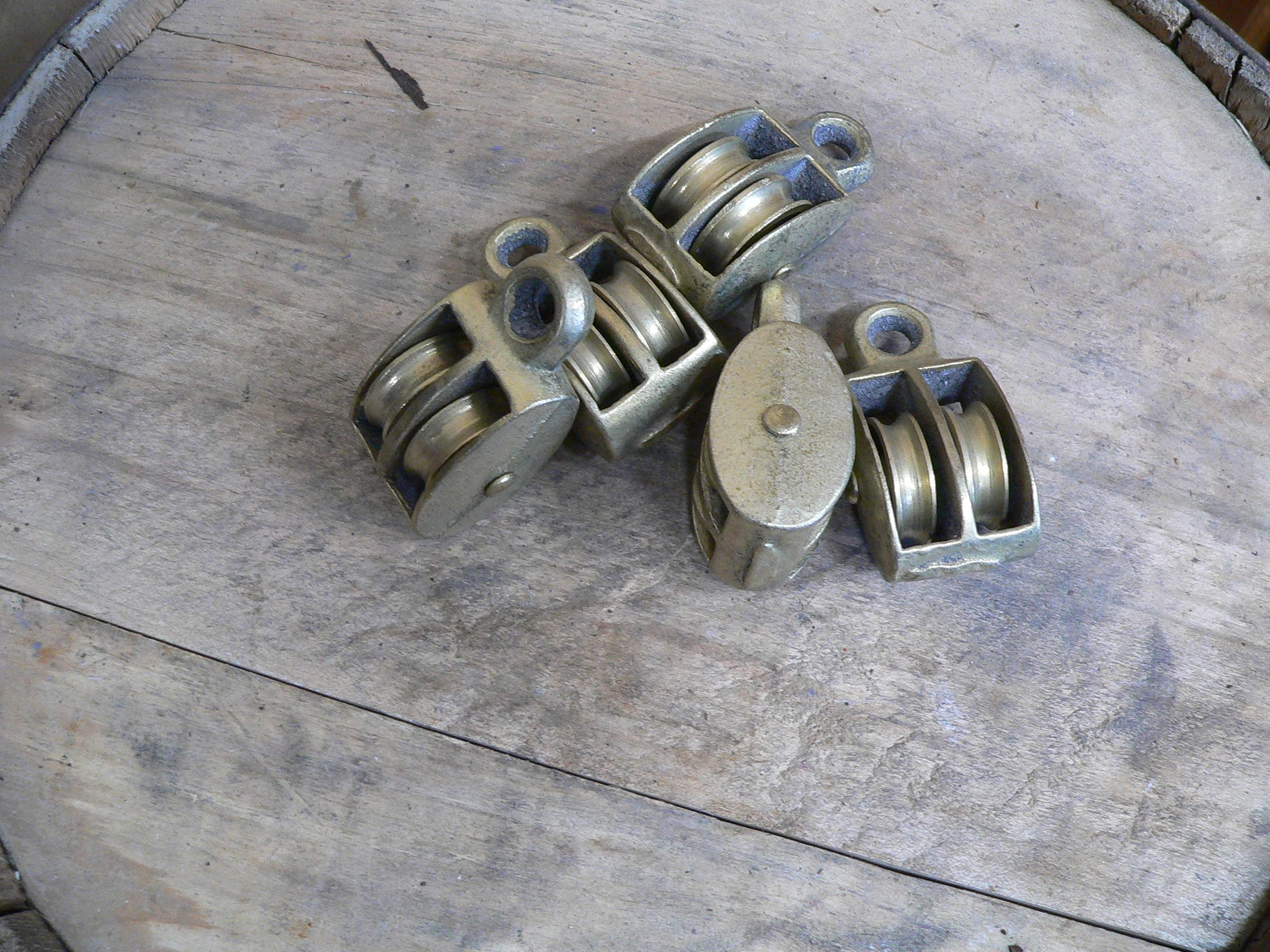 """16 petite poulie double 1"""" roue métal # 5621"""