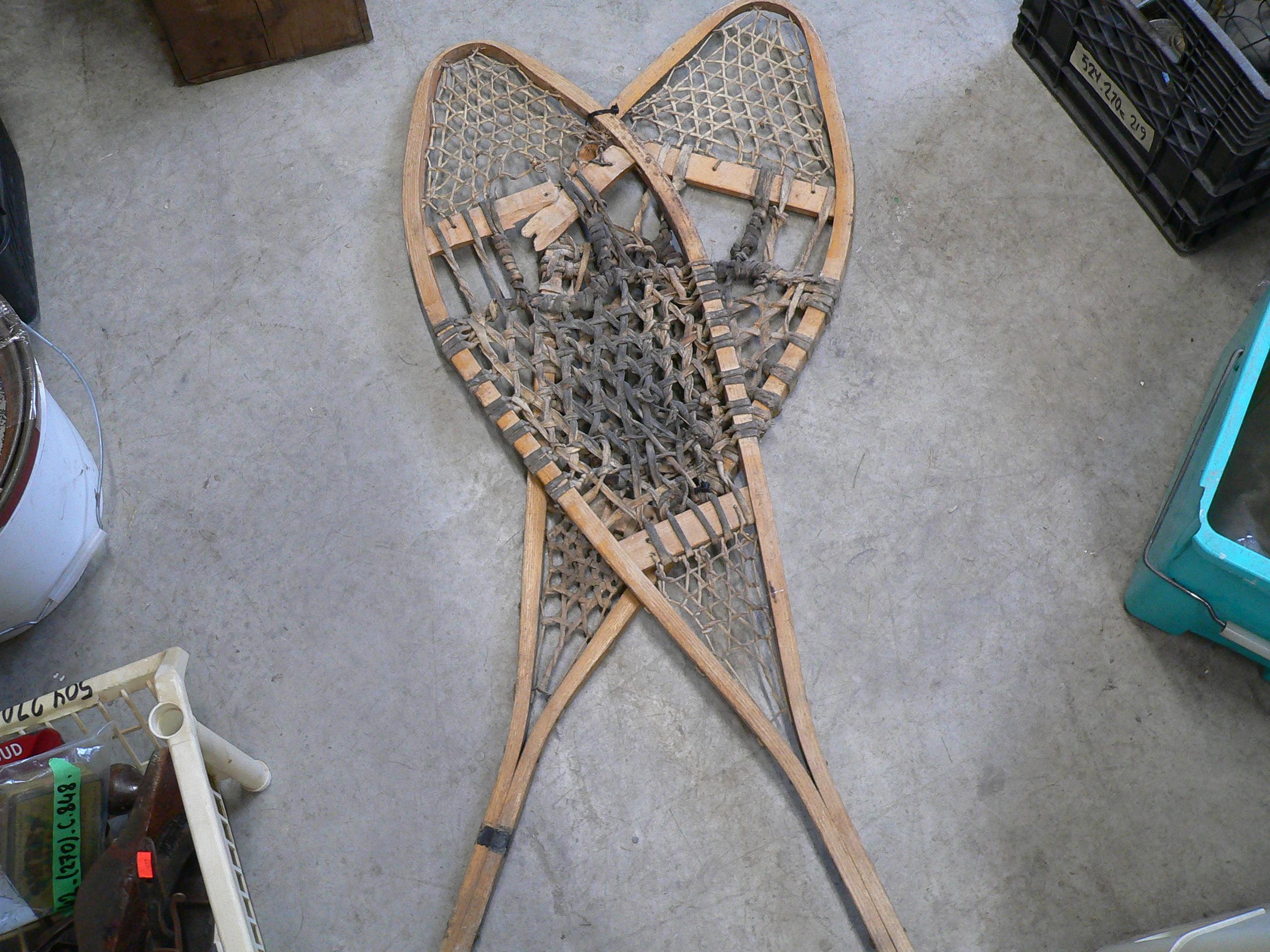 Paire de raquette vintage pour déco # 5665