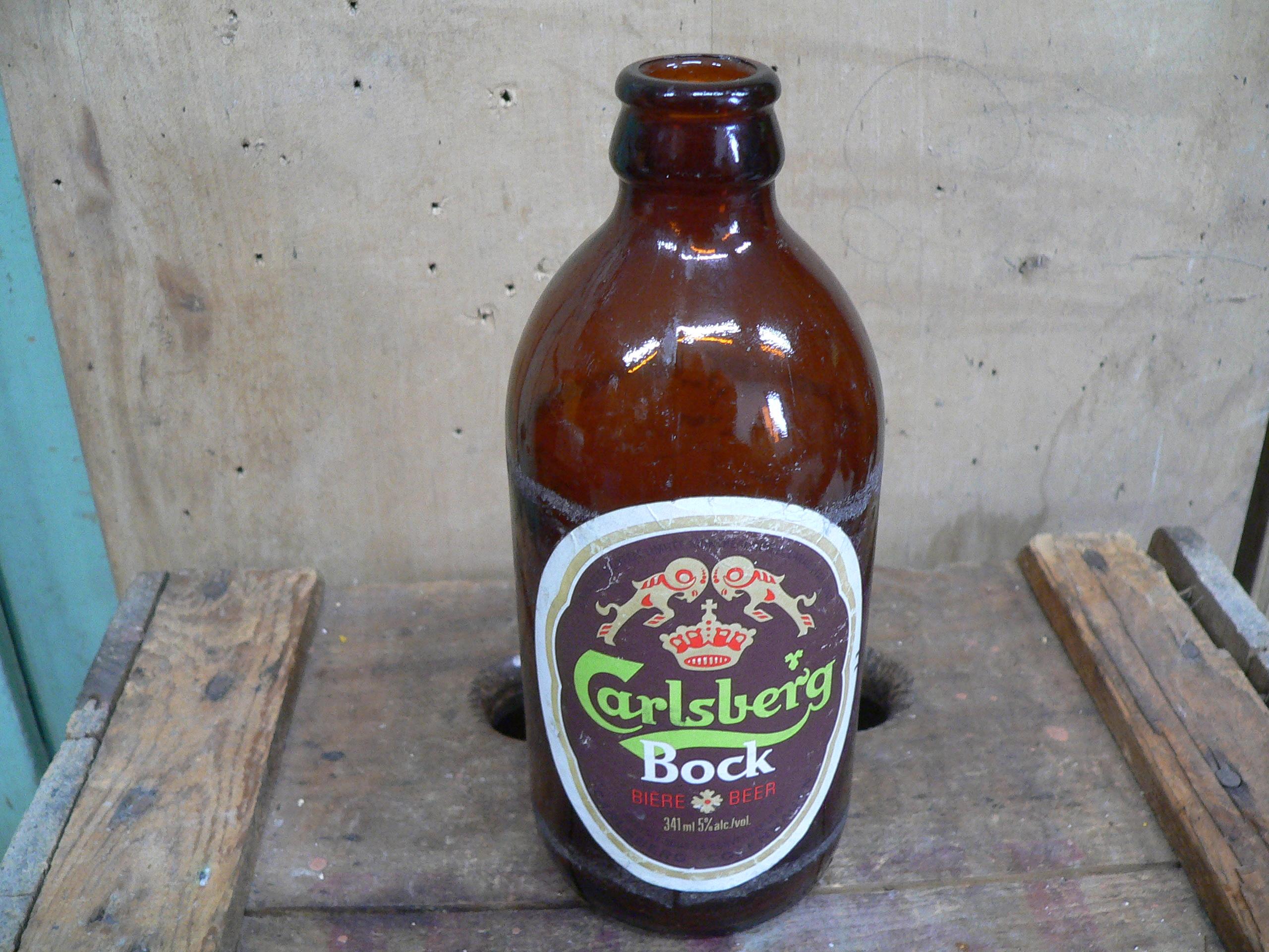 Bouteille antique bière carlsberg bock # 5742.2