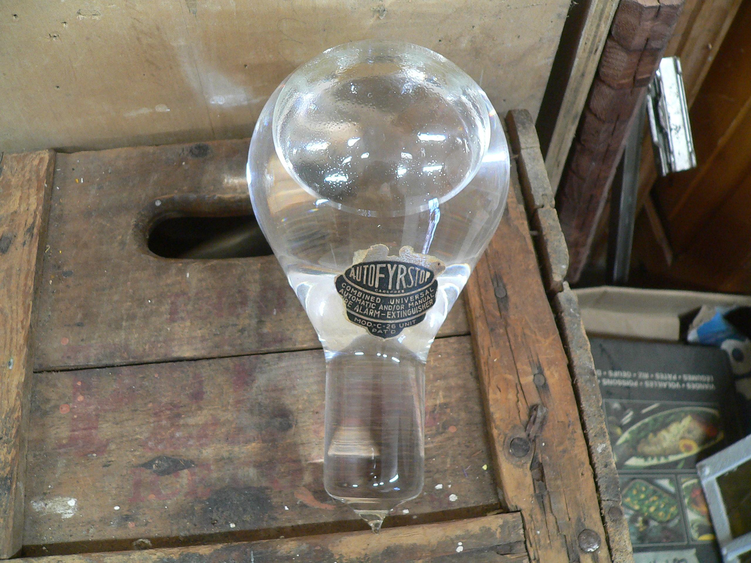 Grosse boule extincteur industriel antique # 5827.2
