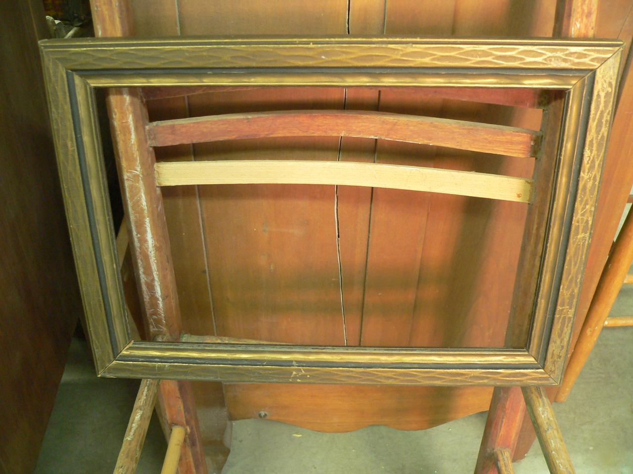 Cadre antique en bois # 1717