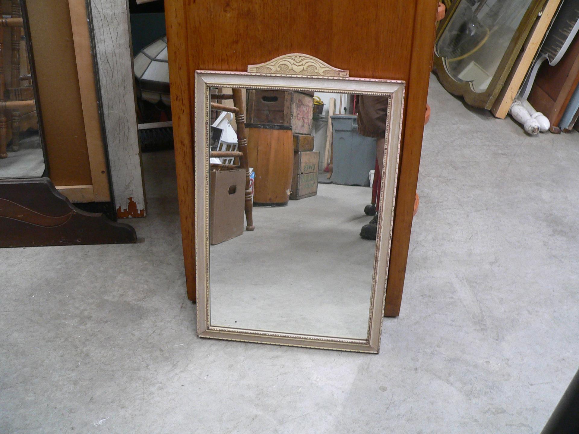 Miroir antique en bois # 2066