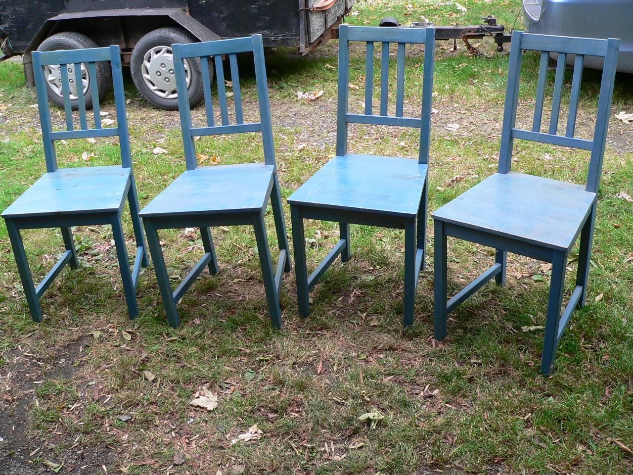 4 chaise en pin # 2282