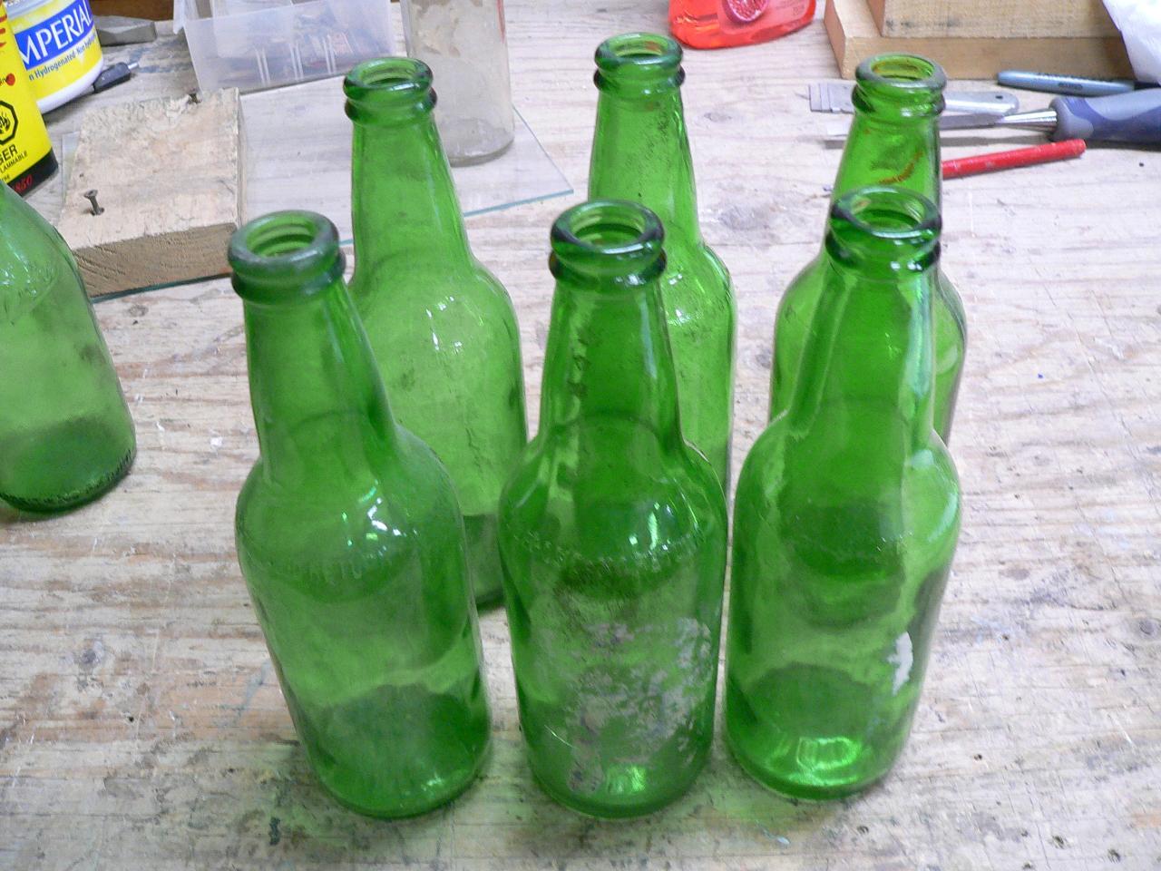 6 bouteille verte de biere # 2457.47