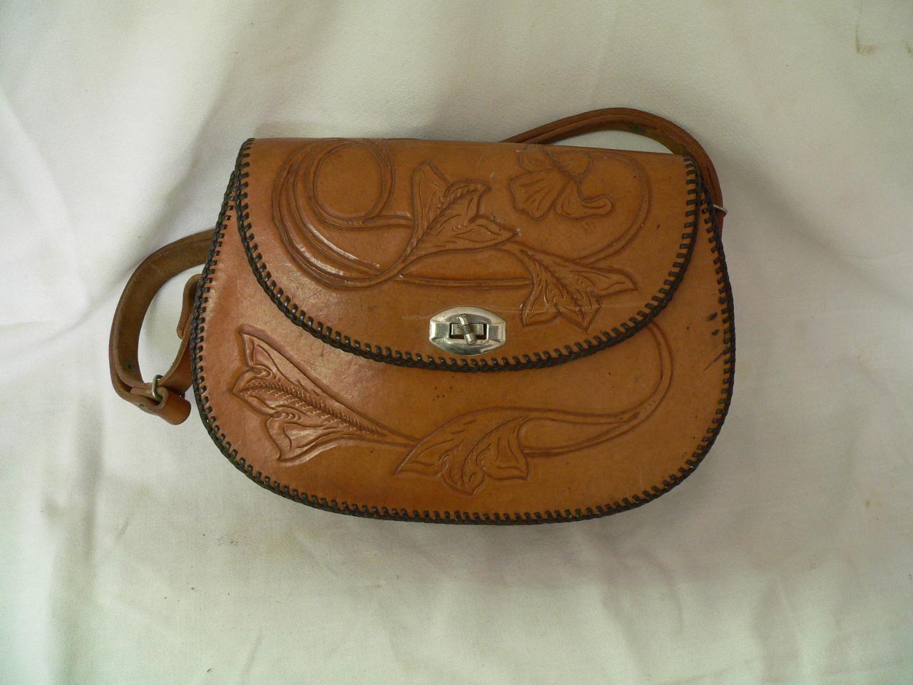 Sacoche en vrai cuir # 3805