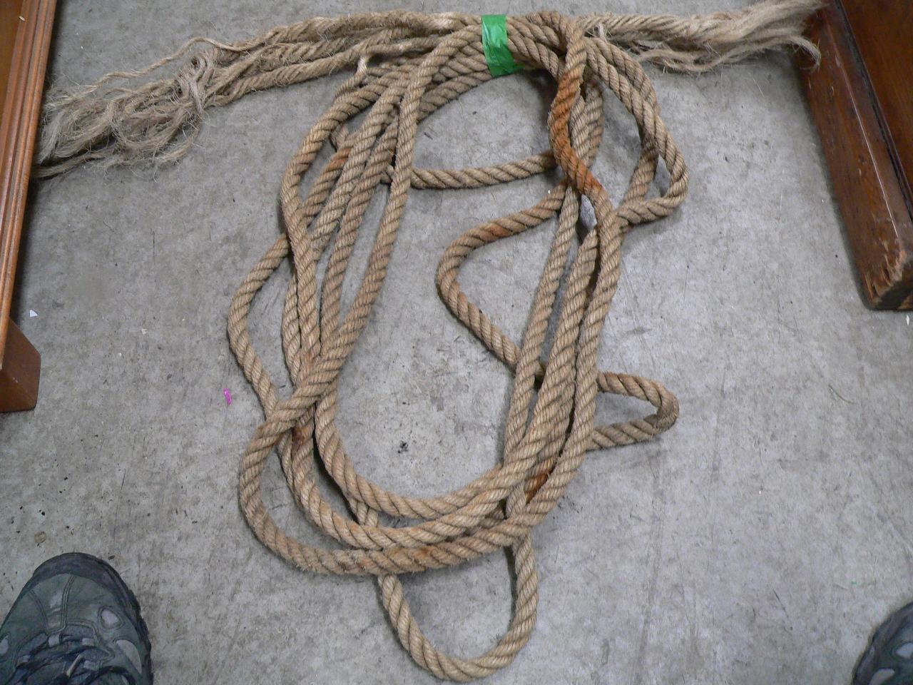 23' de corde de chamvre antique # 4230
