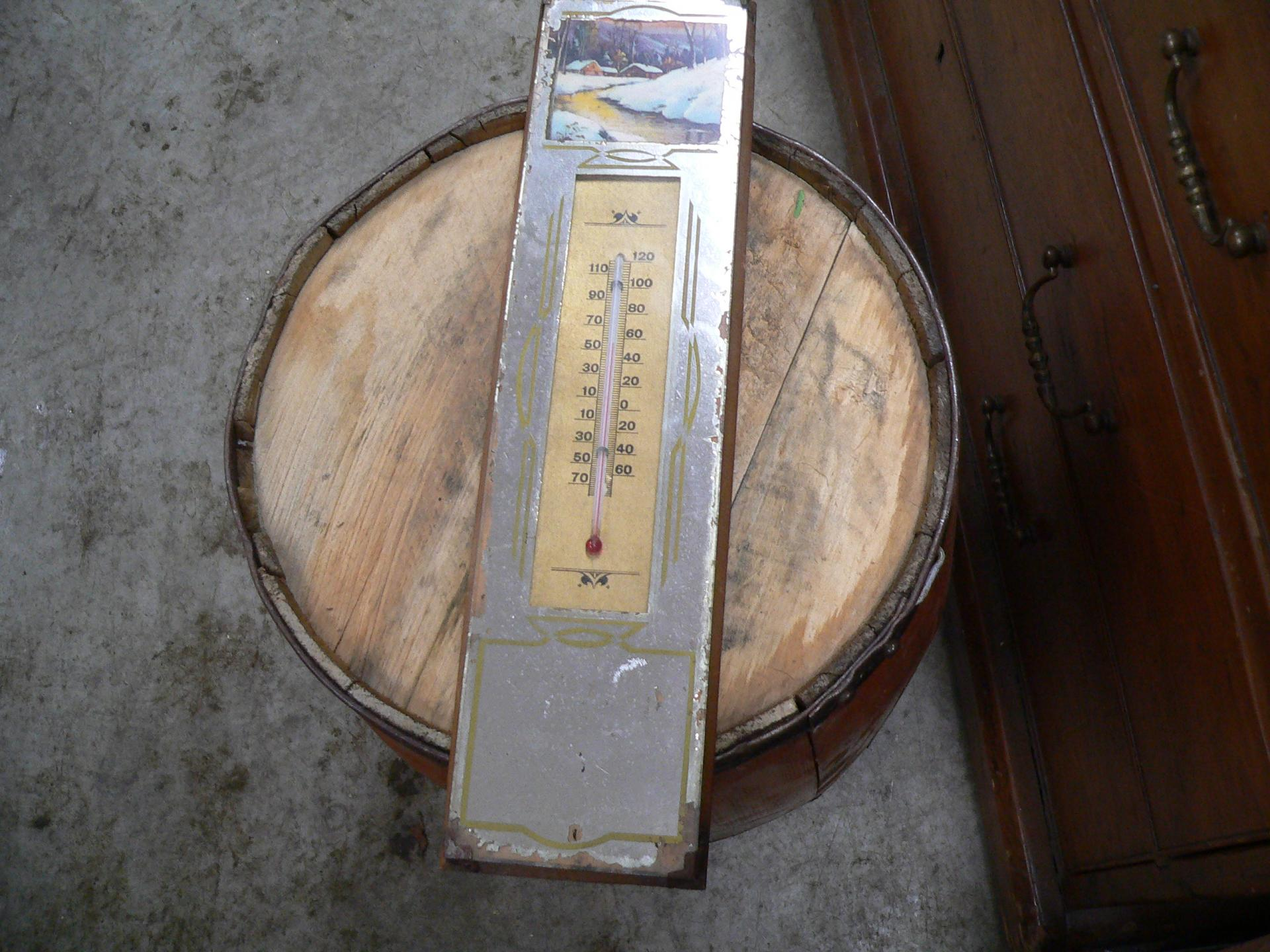 Thermometre antique # 4676