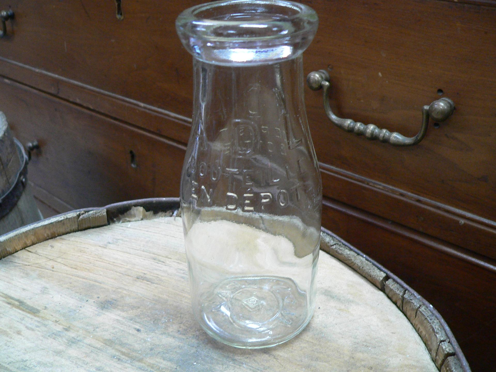Bouteille de lait antique # 4824.5