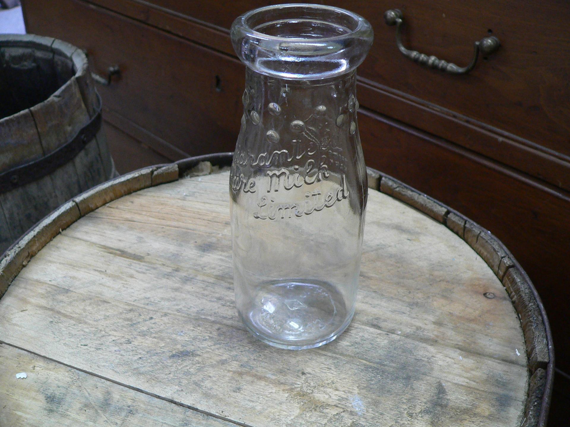 Bouteille de lait en verre # 4873.7