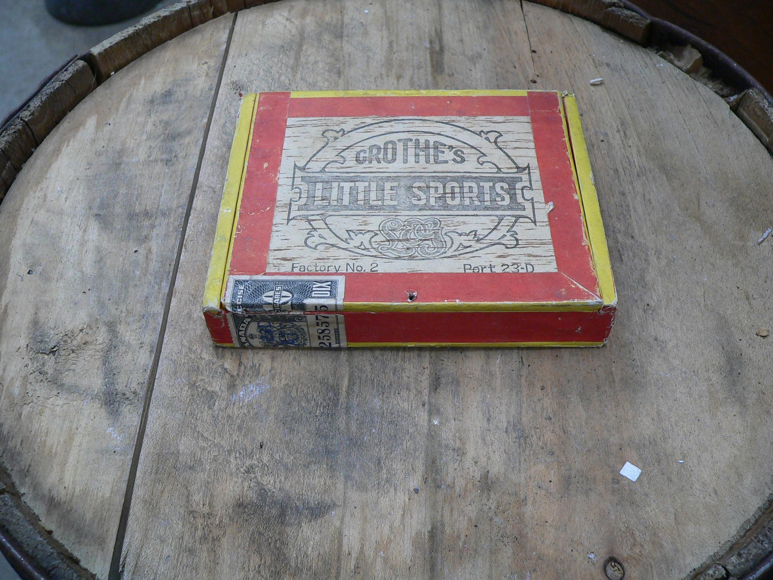 Boite de 10 cigares antique # 5099.11