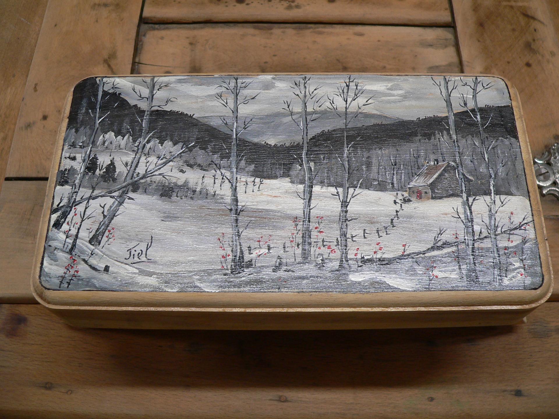 Petit porte plat en bois # 5141