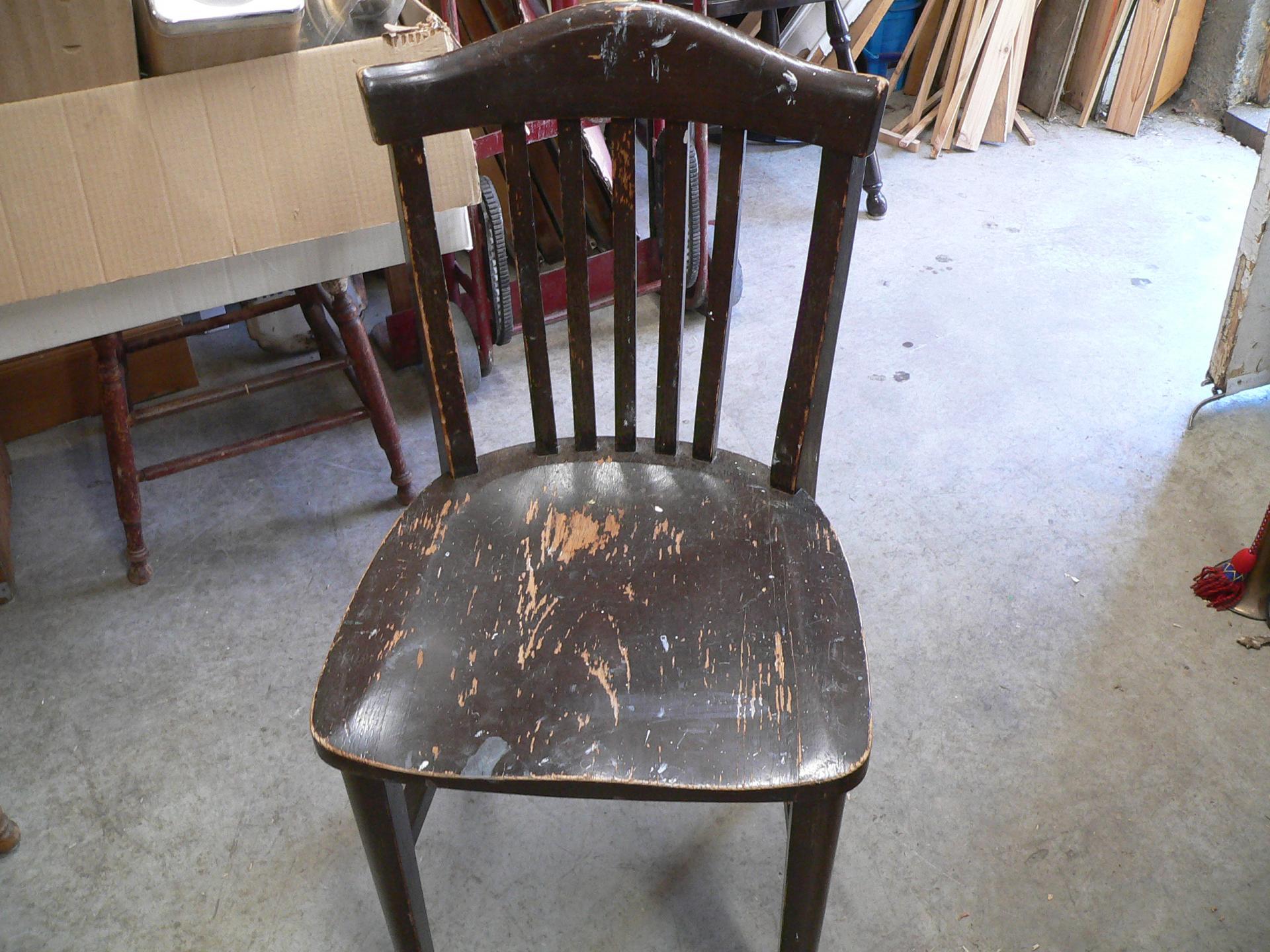 Chaise antique en chêne # 5254