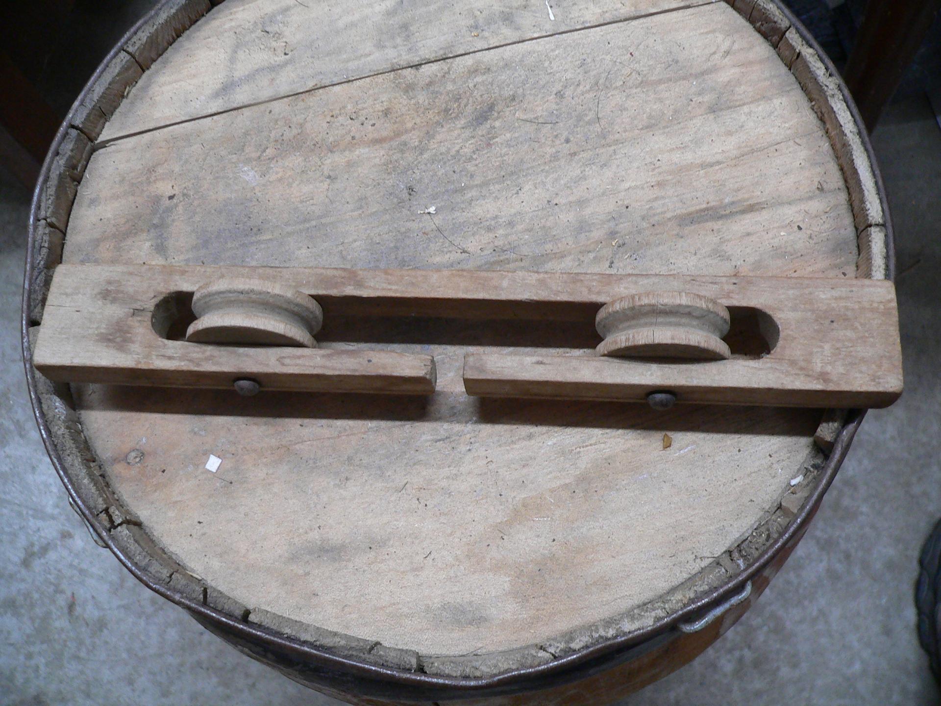 Rack en bois poulie de corde a linge # 5298.1