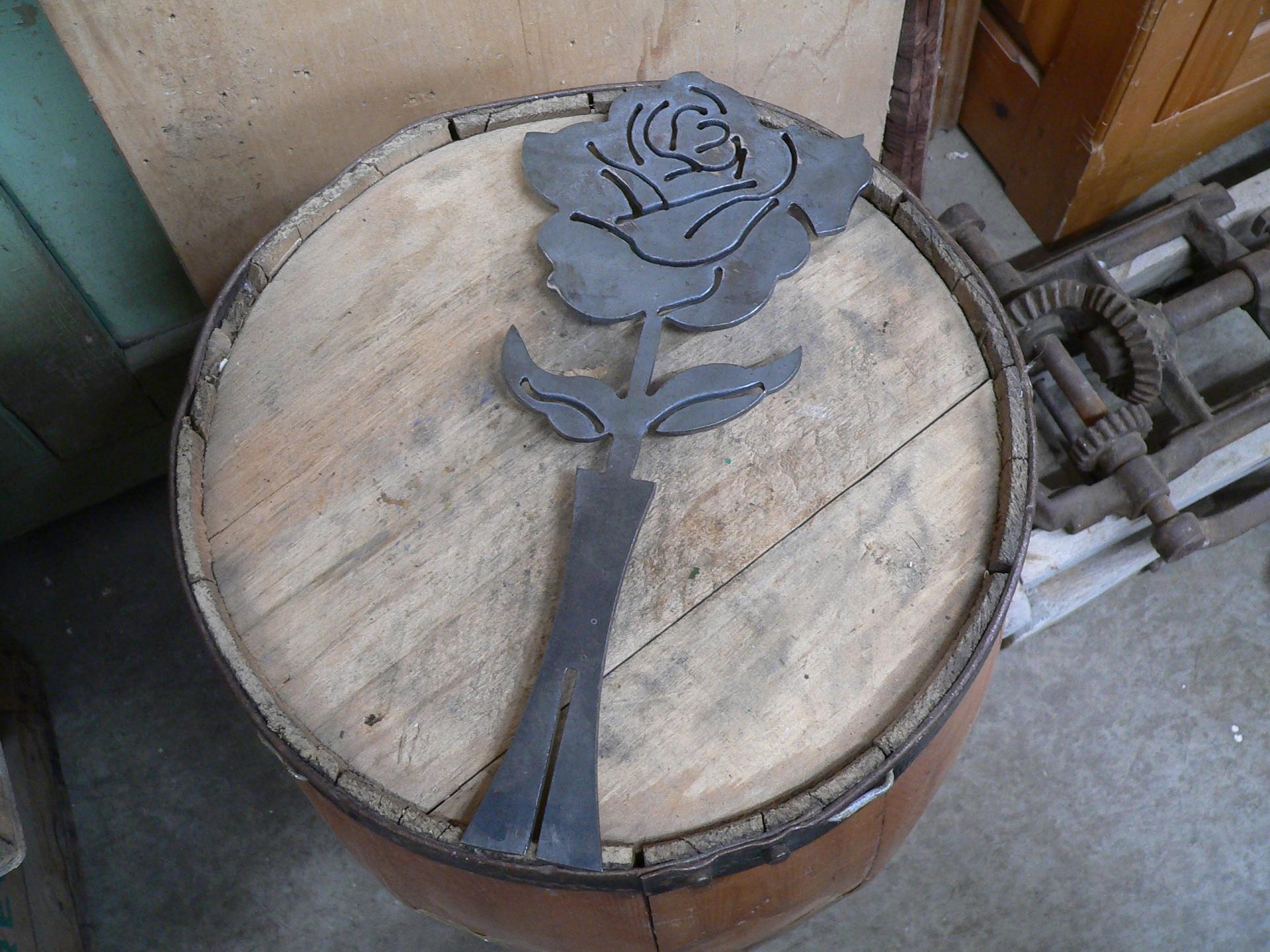 Rose en métal # 5391