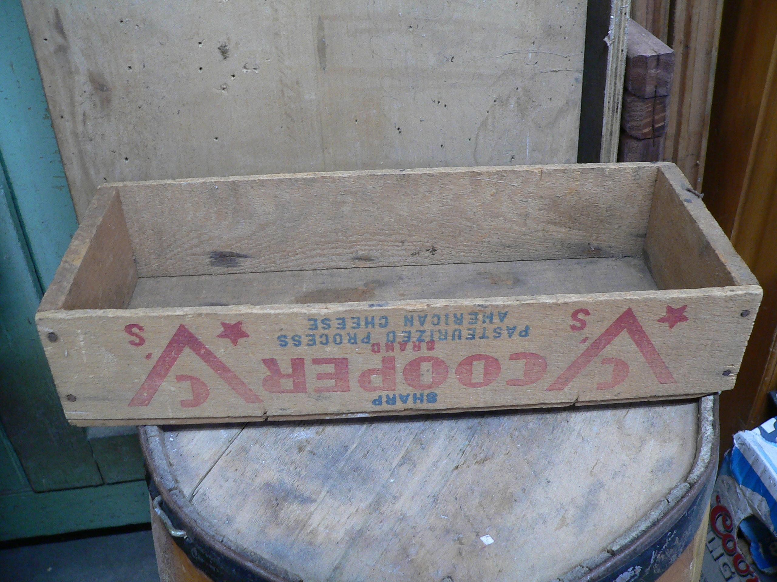 Boite de fromage antique cooper # 5482