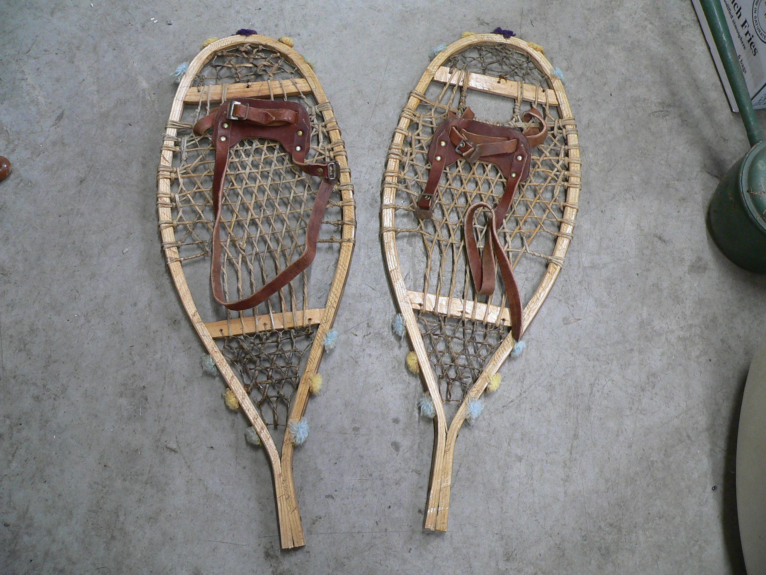 Très belle paire de raquette antique # 5593