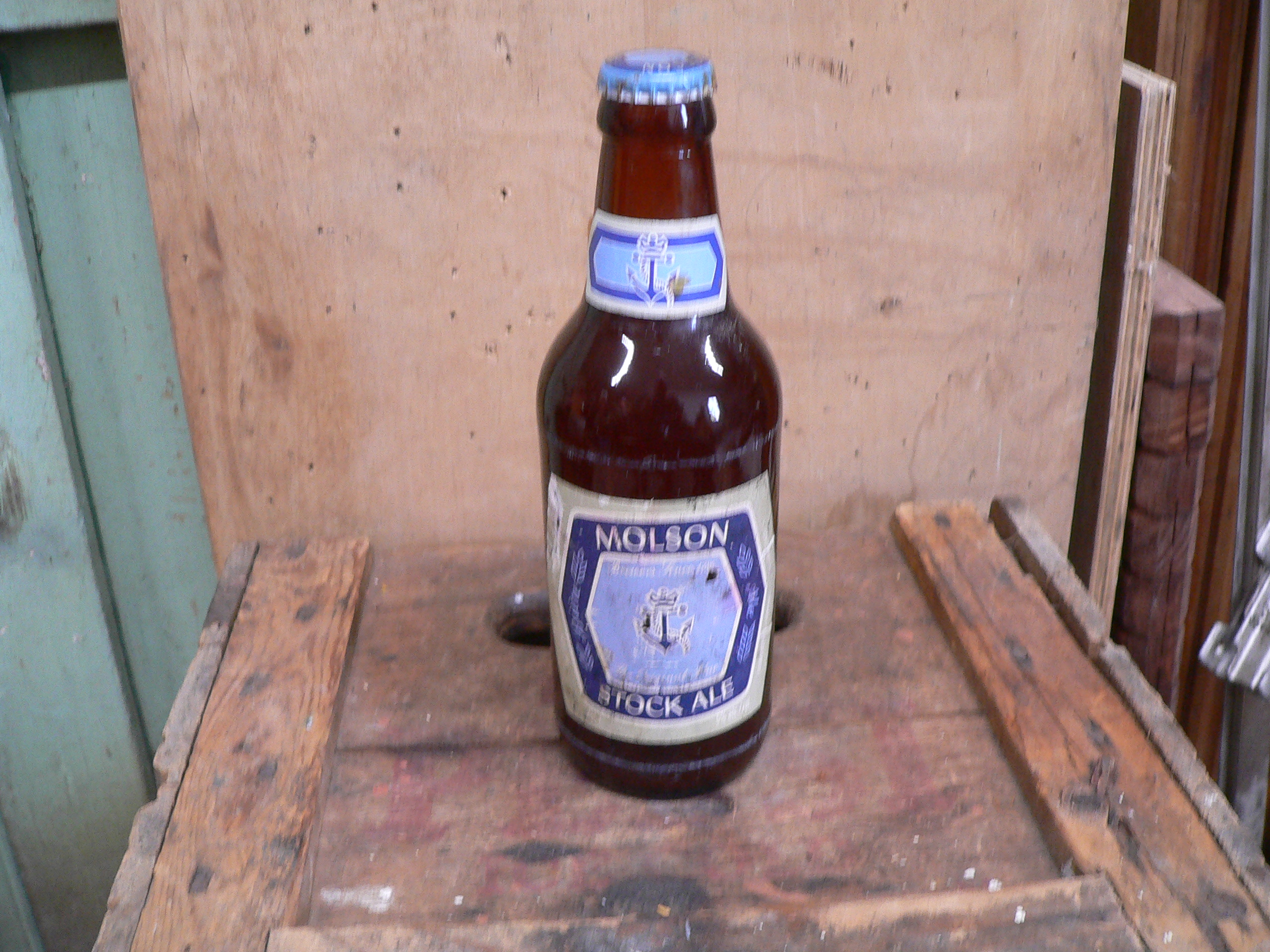 Bouteille bière antique molson stock ale # 5735.7