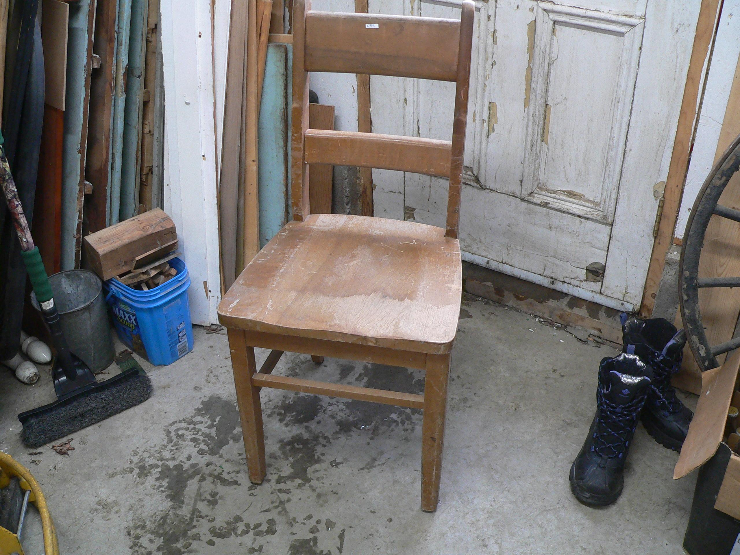 Chaise vintage d'école # 5783