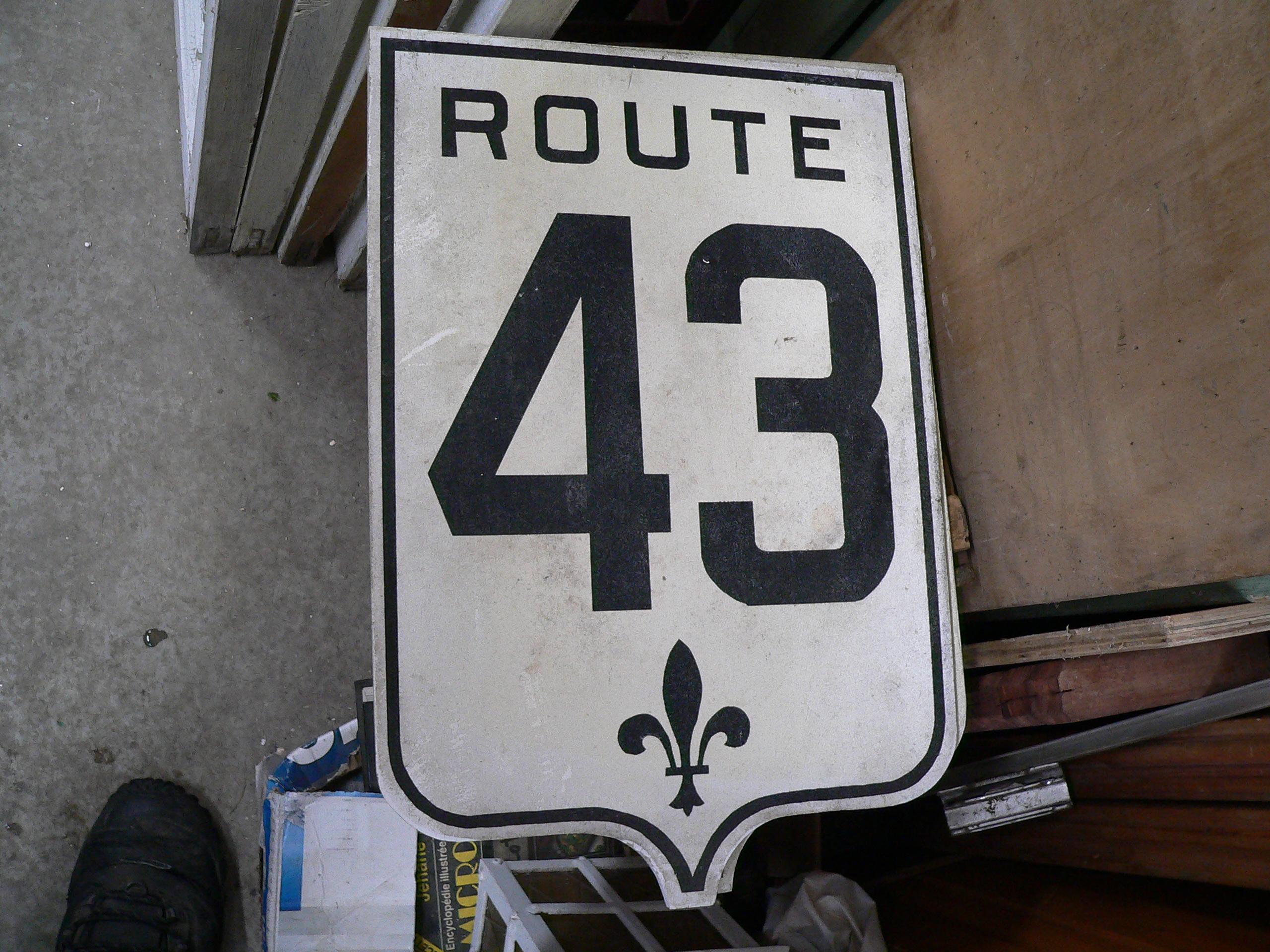 Ancienne enseigne routière # 5855.12