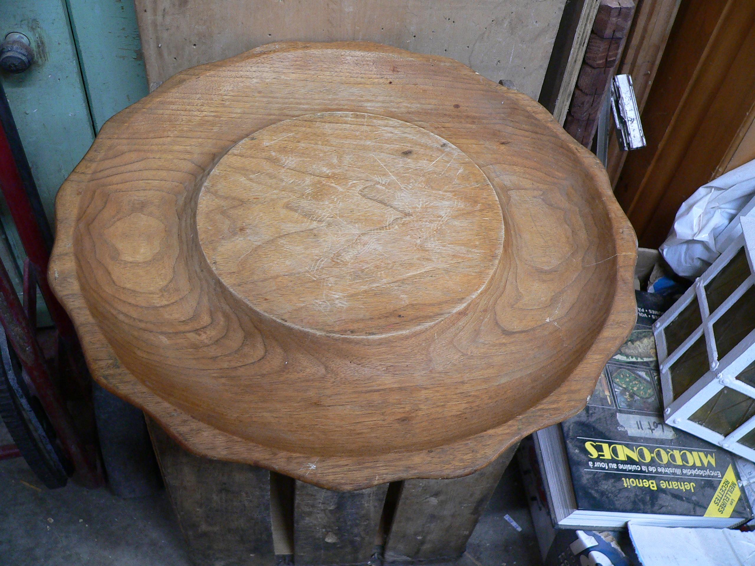 Assiette a crudité vintage en bois # 5882.26