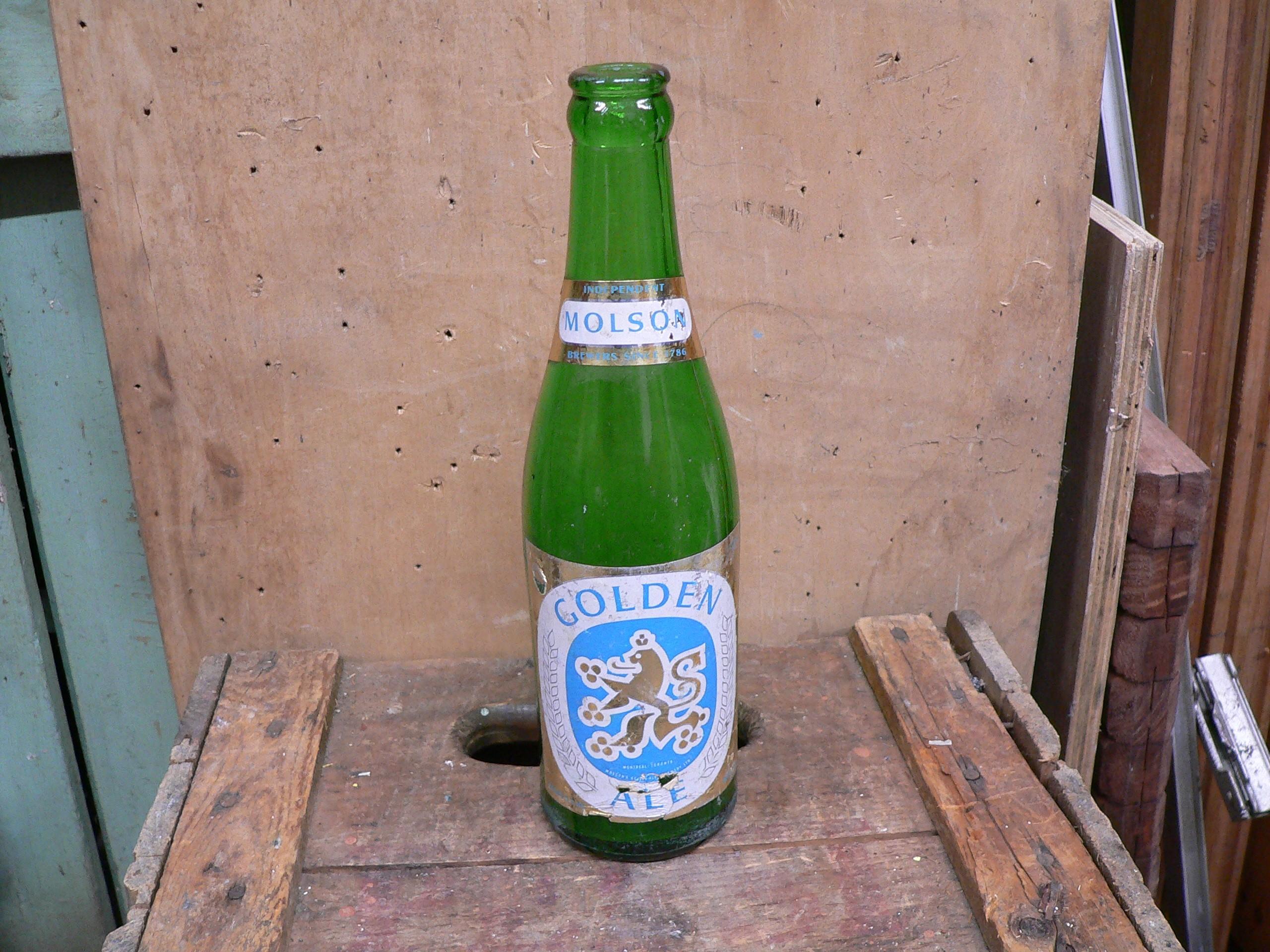Bouteille bière molson golden ale # 5920.7