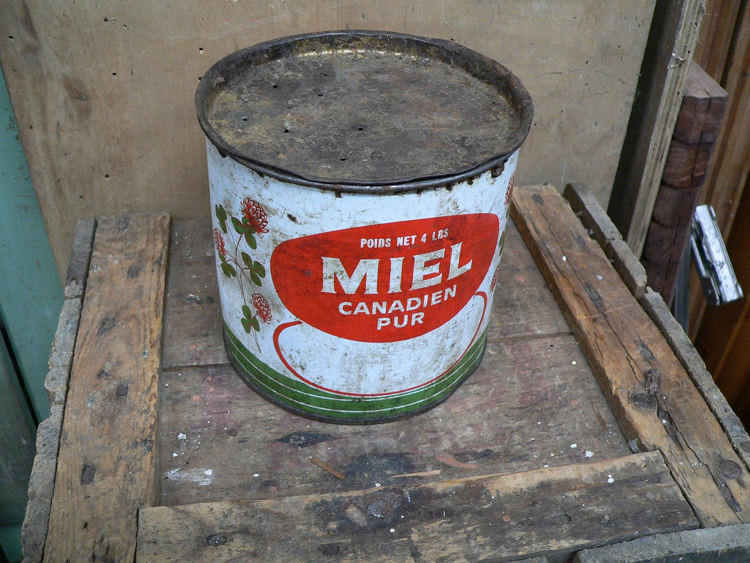 Canne tôle antique de miel # 5945.2