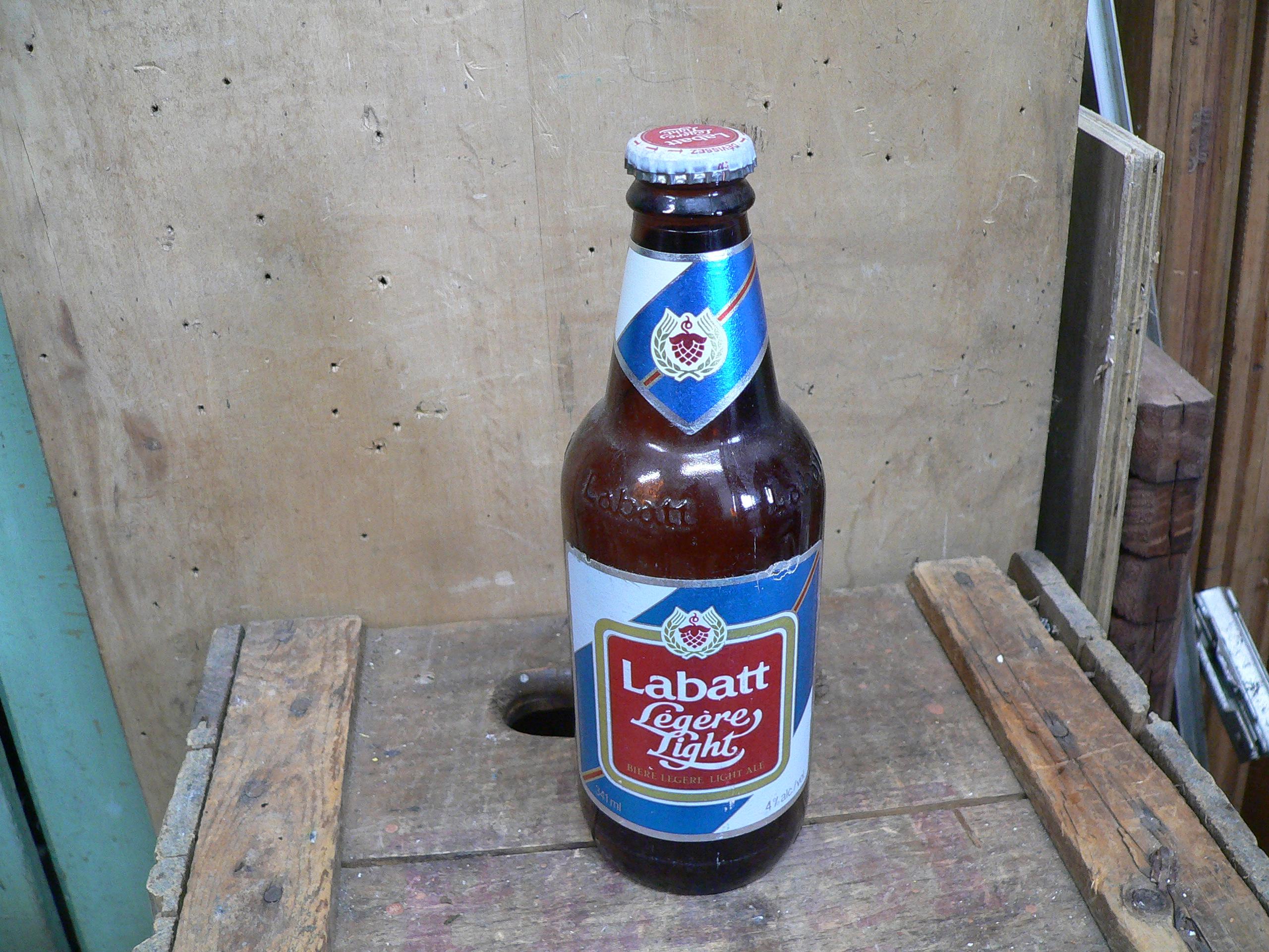 Bouteille bière labatt light # 6040.8