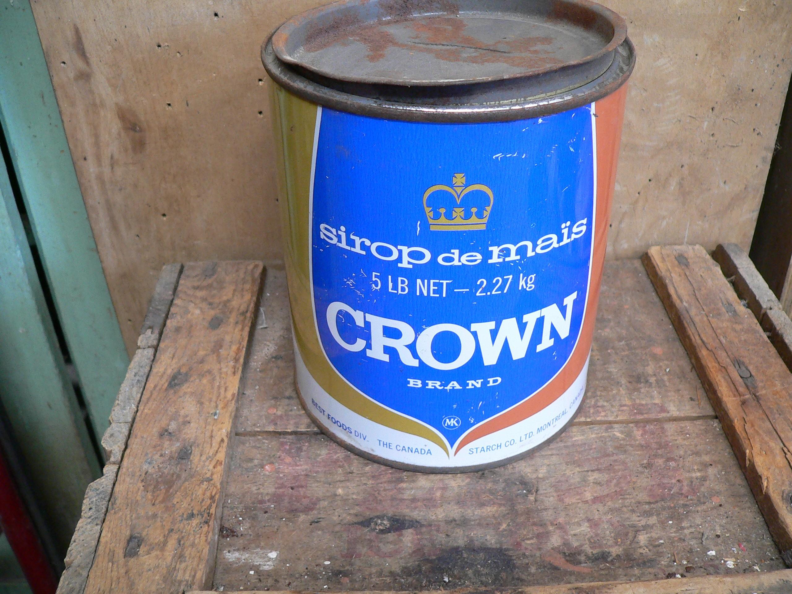 Boite en tôle crown # 6253.2