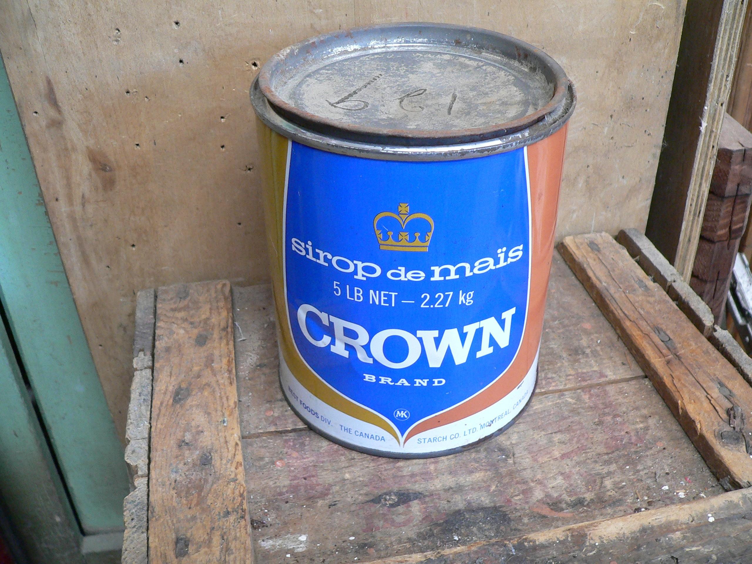 Boite de tôle crown # 6253.3