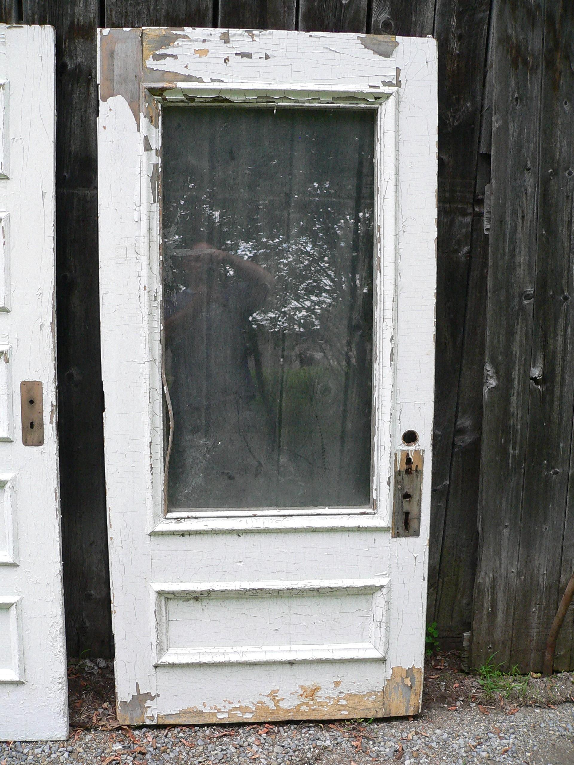 Porte antique vitré # 6369