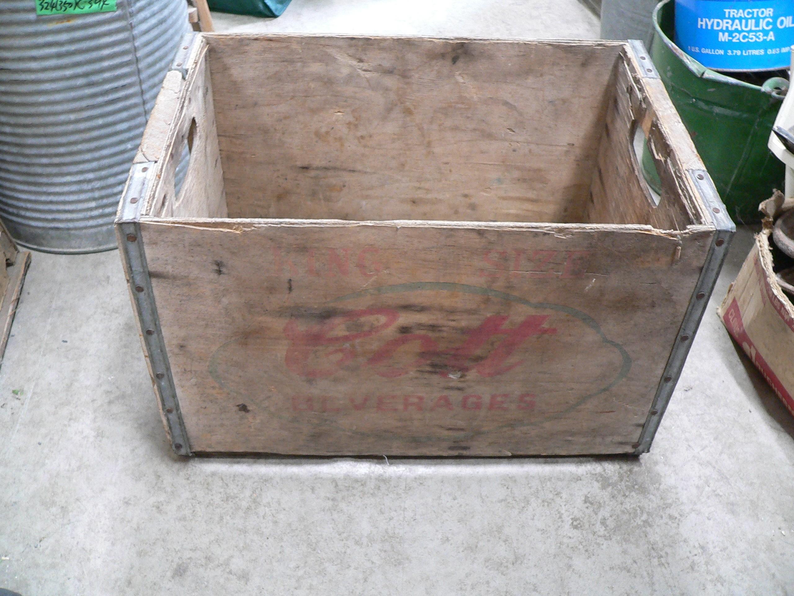 Caisse antique en bois cott beverage # 6399