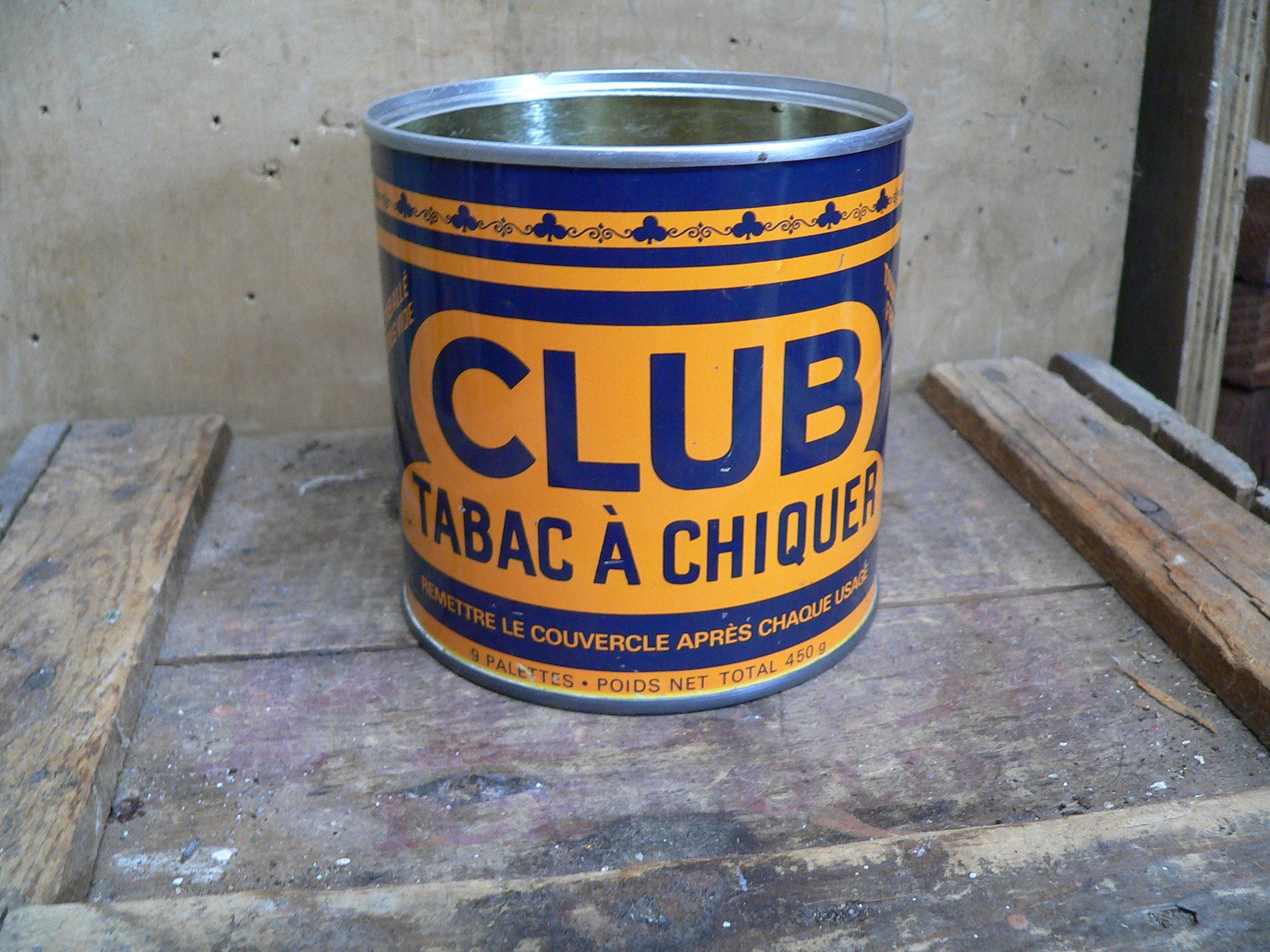 Canne antique club tabac a chiquer # 6428.2