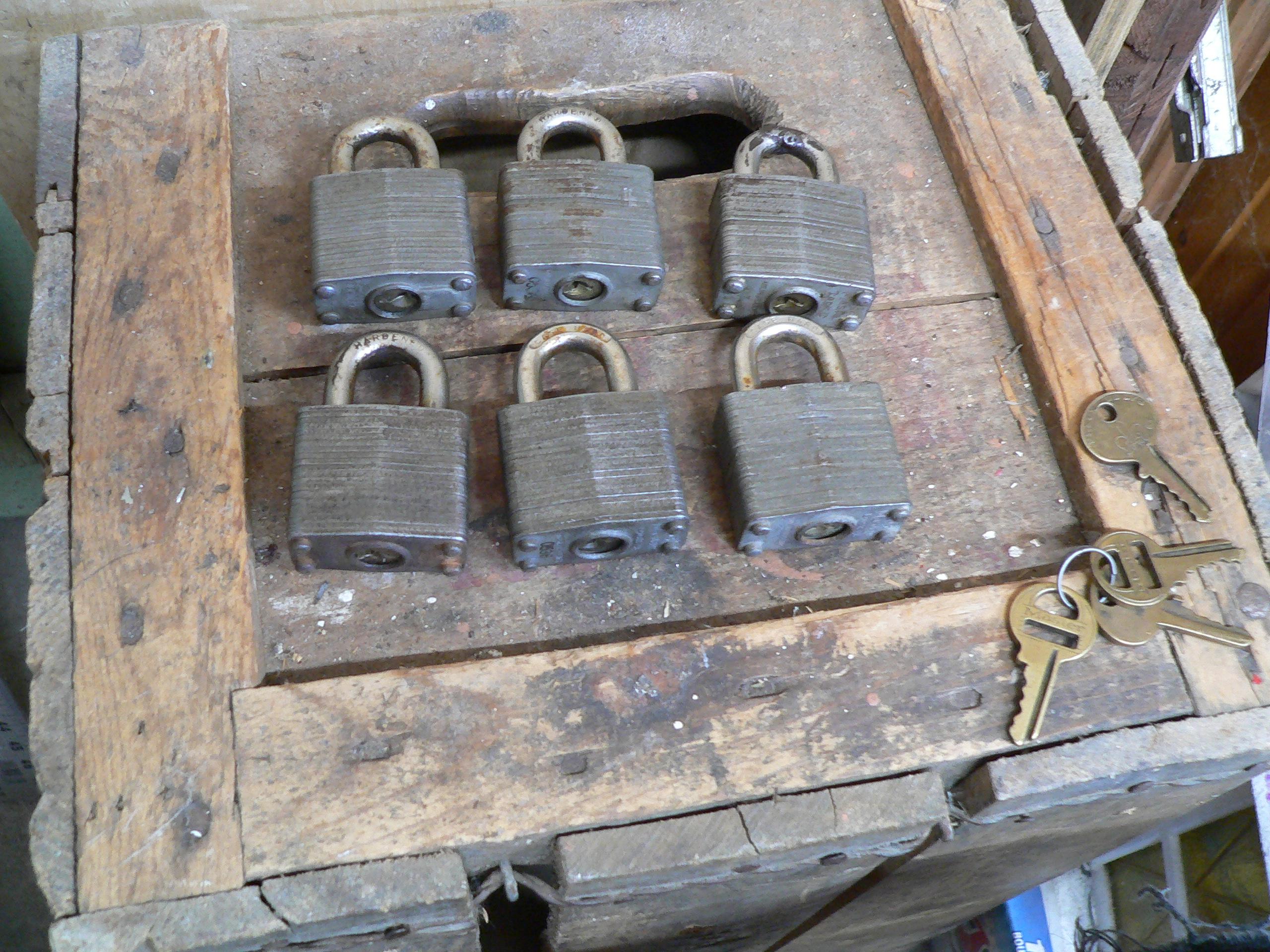 Lot de 6 cadenas master pareil # 6455.1